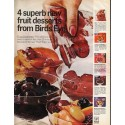 """1966 Bird's Eye Desserts Ad """"4 superb new fruit desserts"""""""