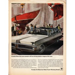 "1967 Pontiac Executive Safari Ad ""driving station wagons"" ~ (model year 1967)"