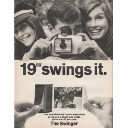 "1966 Polaroid Camera Ad ""The Swinger"""