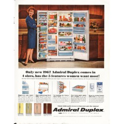 "1966 Admiral Dulex Ad ""Julia Meade, stage and TV personality"""