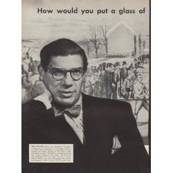 """1952 Ballantine Ale Ad """"Paul Gallico"""""""
