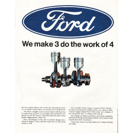 """1966 Ford Auto Parts Ad """"do the work of 4"""""""