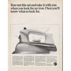 "1966 Hoover Steam/Dry Iron Ad ""Tear out this ad"""