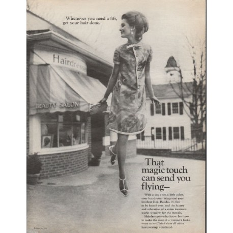 "1966 Clairol Haircolor Ad ""send you flying"""
