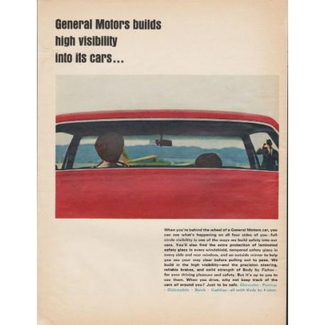 "1966 General Motors Ad ""high visibility"""