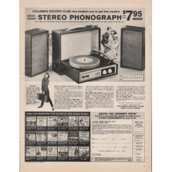 "1966 Columbia Record Club Ad ""Stereo Phonograph"""