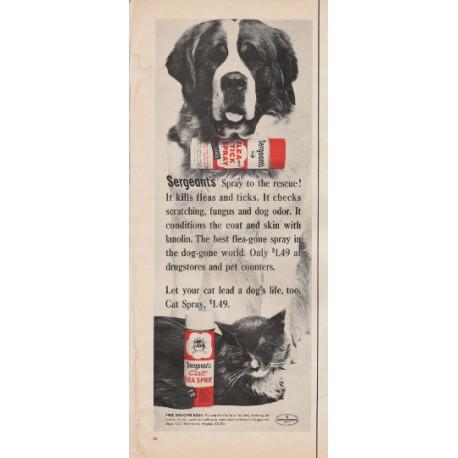 "1966 Sergeant's Flea Spray Ad ""to the rescue"""