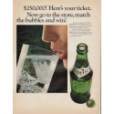 """1966 Sprite Soft Drink Ad """"match the bubbles"""""""