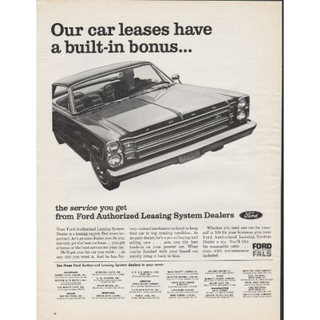 1966 Ford Authorized Leasing System Vintage Ad Our Car Leases
