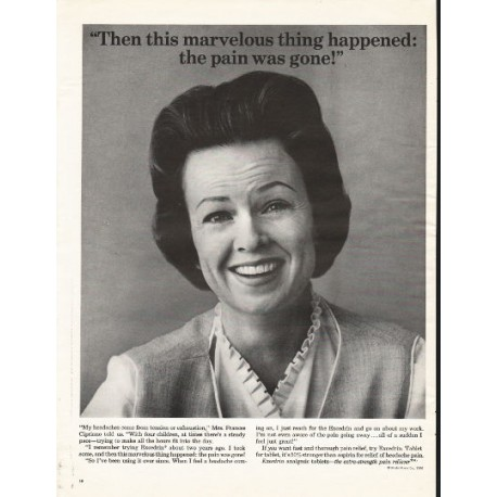 """1966 Excedrin Analgesic Tablets Ad """"this marvelous thing """""""