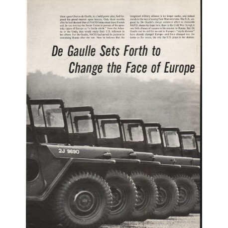 "1966 Charles de Gaulle Article ""... Change the Face of Europe"""