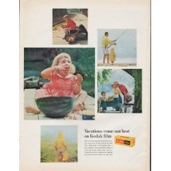 "1966 Kodak Film Ad ""Vacations come out best"""