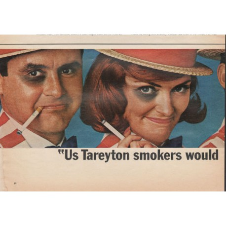 """1966 Tareyton Cigarettes Ad """"rather fight than switch"""""""