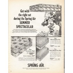 "1966 Spring Air Mattress Ad ""Summer Spectacular"""