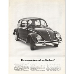 "1966 Volkswagen Ad ""Do you earn too much"" ~ (model year 1966)"