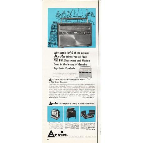 "1966 Arvin Portable Radio Ad ""sipping a sarsaparilla"""