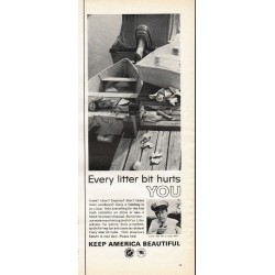 "1966 Advertising Council Ad ""Every litter bit"""