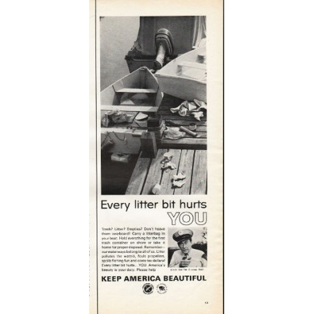 """1966 Advertising Council Ad """"Every litter bit"""""""