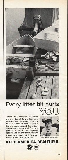 1966 Advertising Council Vintage Ad Quot Every Litter Bit Quot