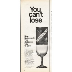"1966 Nutrament Liquid Energy Food Ad ""You can't lose"""