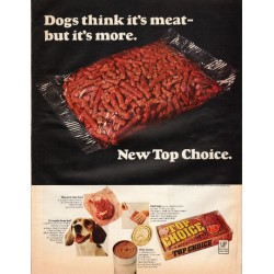 "1966 Top Choice Dog Food Ad ""New Top Choice"""