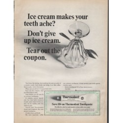 "1966 Thermodent Toothpaste Ad ""Ice cream"""