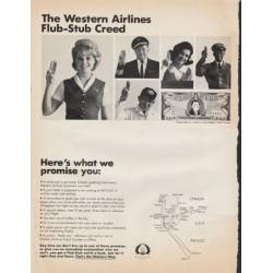"1966 Western Airlines Ad ""Flub-Stub Creed"""