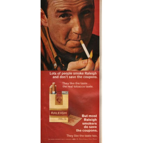 """1966 Raleigh and Belair Cigarettes Ad """"Lots of people smoke"""""""