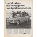 "1966 Ford Cortina Ad ""total performance car"" ~ (model year 1966)"