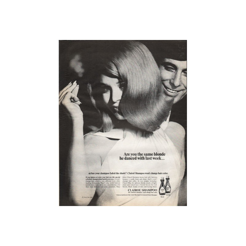 1966 Clairol Shampoo Vintage Ad Are You The Same Blonde