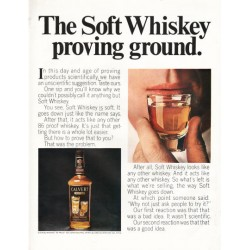 "1966 Calvert Whiskey Ad ""Soft Whiskey proving ground"""
