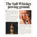 """1966 Calvert Whiskey Ad """"Soft Whiskey proving ground"""""""