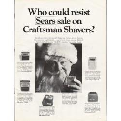 "1967 Sears Craftsman Shavers Ad ""Who could resist"""