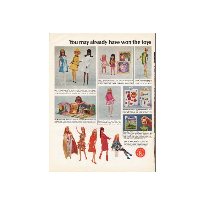 1967 Mattel Toys Vintage Ad