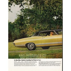 "1968 Chevrolet Caprice Ad ""Silent Ride of Quality"" ~ (model year 1968)"