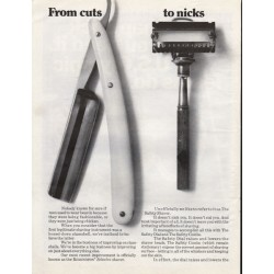 "1967 Remington Safety Shaver Ad ""From cuts - to nicks"""