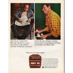 "1967 Hammond Organ Ad ""Charlie Riordan will play a rousing 76 Trombones"""