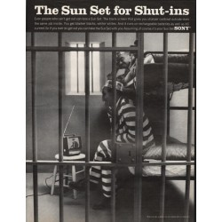 "1967 SONY Television Ad ""the Sun Set for Shut-ins"""
