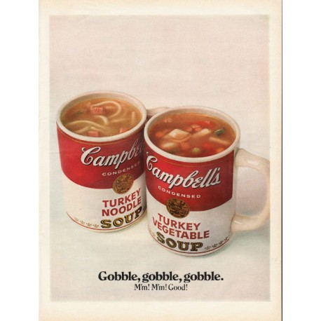 "1967 Campbell's Soup Ad ""Gobble, gobble"""