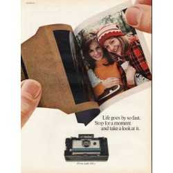 "1967 Polaroid Camera Ad ""Life goes by so fast"""