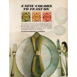 "1967 Kleenex Dinner Napkins Ad ""3 new colors"""