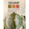 "1967 Kleenex Dinner Napkins Ad ""3 new colors"""