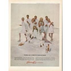 "1967 Smirnoff Vodka Ad ""Turn on a White Christmas"""