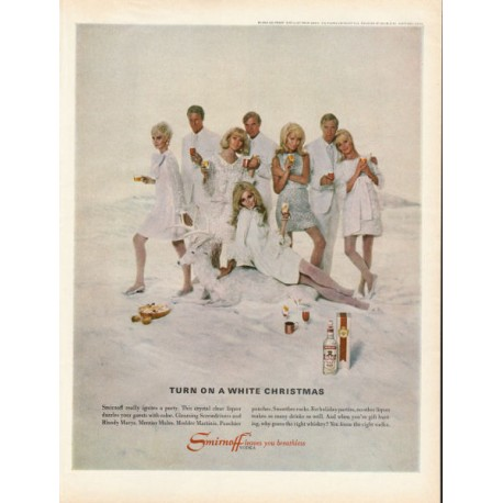 "1967 Smirnoff Vodka Ad ""Turn on a White Christmas"""