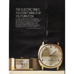 "1967 Timex Watch Ad ""The Electric Timex"""