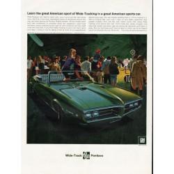 "1968 Pontiac Firebird Ad ""American sport of Wide-Tracking"" ~ (model year 1968)"