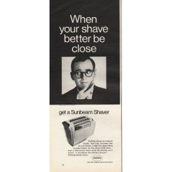 "1967 Sunbeam Shaver Ad ""When your shave better be close"""