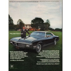 "1968 Buick Riviera Ad ""They didn't louse it up"" ~ (model year 1968)"