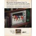 "1967 Zenith Television Ad ""Big-screen, fit-anywhere Color TV"""