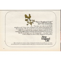 "1967 New England Life Insurance Ad ""New England Life"""